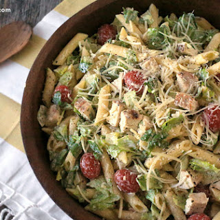 Chicken Caesar pasta salad.