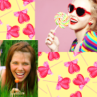 Collage di foto di lollipops icon