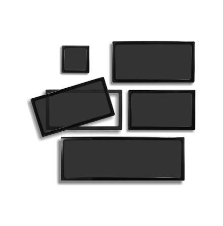 DEMCiflex magnetisk filtersett for Corsair  C70 Vengeance, sort