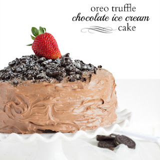 Chocolate Ice Cream Oreo Truffle Cake
