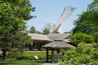 Photo: Japanese Pavilion with Olympic Stadium