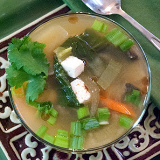 Miso Soup with Bok Choy and Tofu