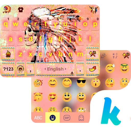 Chief Skull Emoji KikaKeybaord