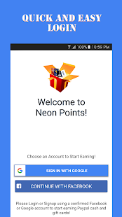 Neon Points - Free Gift Card- screenshot thumbnail