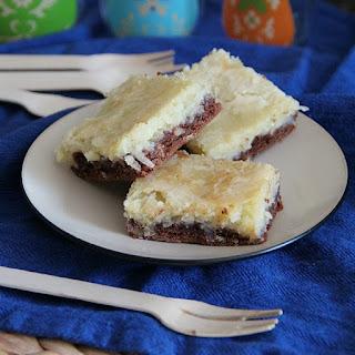 German Chocolate Cream Cheese Snack Cake.