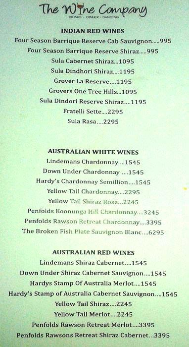 The Wine Company menu 15