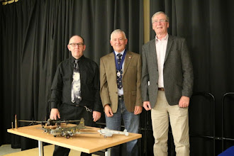 Photo: (l) The Speaker Peter Wilson Cunliffe, President Colin Monks and Sponsor Gordon Hayward.