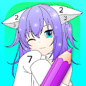 Anime Manga Color by Number - Kawaii Coloring Book icon