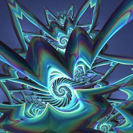 by Cassy 67 - Illustration Abstract & Patterns ( wallpaper, digital art, metallic, spiral, fractal, digital, fractals )