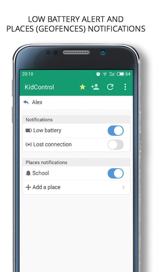 Family GPS tracker Kid Control- screenshot