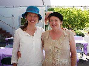 "Photo: Karuna and Mari at the ""Hat Tea"", Ananda Center Laurelwood, Labor day weekend"