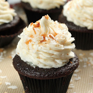The Best Chocolate Coconut Cupcakes.