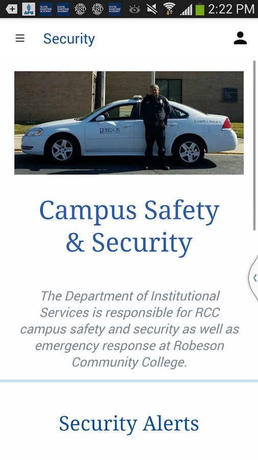 Robeson Community College- screenshot