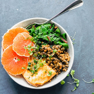 Cara Cara Orange Salmon & Lentil Bowl Recipe