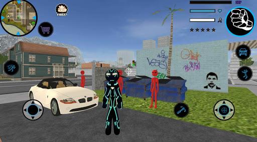 Neon Iron Stickman Rope Hero City Gangstar Mafia screenshot 2