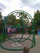 Photo: Bjorn spinning.