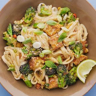 Meera Sodha's vegan recipe for peanut and broccoli pad thai.