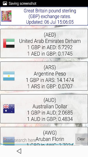 Great Britain Pound rates