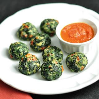 Spinach Parmesan Balls with Sundried Tomato