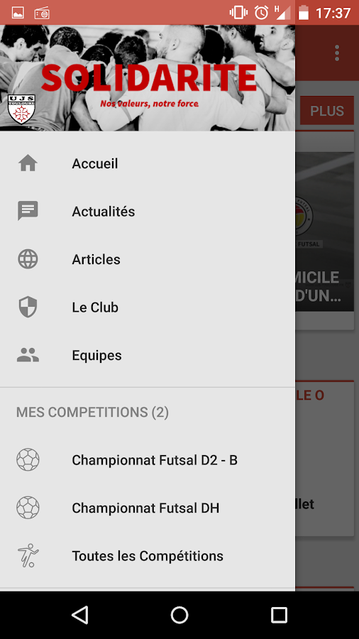 UJS Toulouse Futsal- screenshot