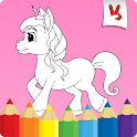 Coloring games: Unicorn coloring book for kids icon
