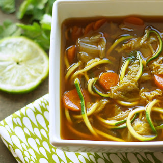 Crockpot Miso Vegetable Zoodle Soup.
