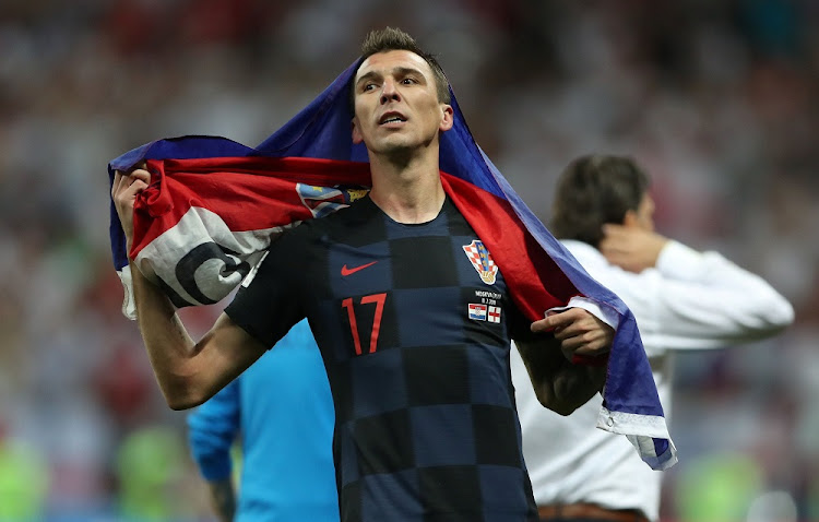 Croatia's Mario Mandzukic celebrates victory against England at the 2018 World Cup in Moscow, Russia, July 11 2018. Picture: REUTERS