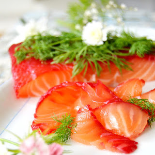 Beet Cured Salmon Gravlax with Horseradish