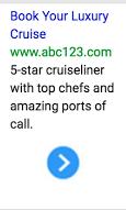 Imagen de anuncio de texto para cruceros de lujo