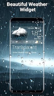 live weather and clock widget - náhled