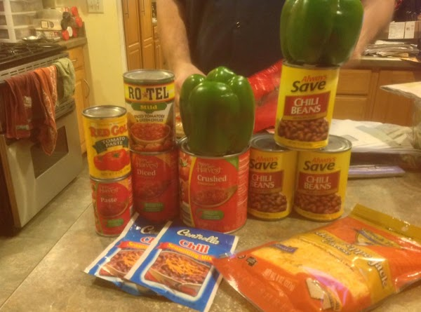 These are MOST of the ingredients that I used in the chili.