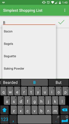 Simplest Shopping List - screenshot