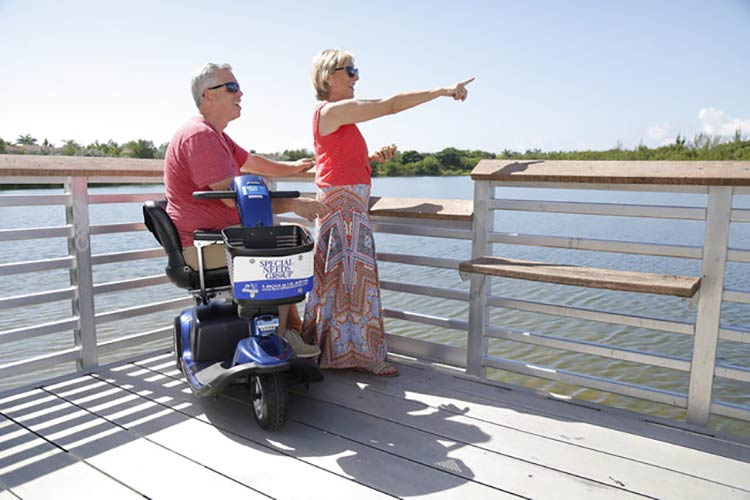 Next time you need to rent a scooter or wheelchair during a cruise, you may be able to get free curb-to-cabin white glove service.