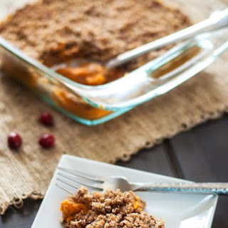 Sweet Potato Casserole with Crumbly Quinoa Topping