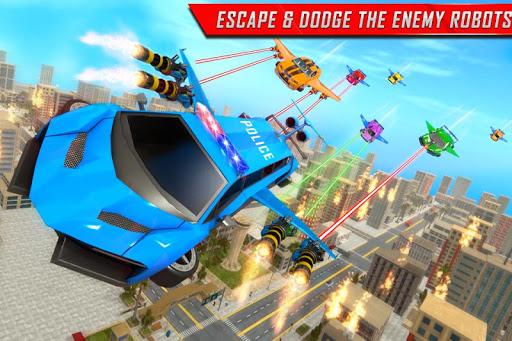 Flying Limo Robot Car Transform: Police Robot Game 1.0.7 screenshots 2