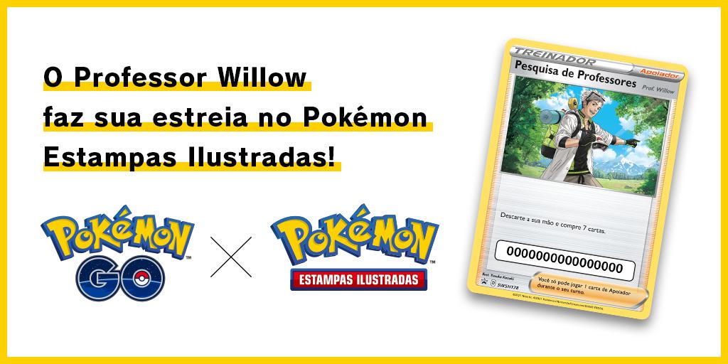 O Professor Willow faz sua estreia no Pokémon Estampas Ilustradas!