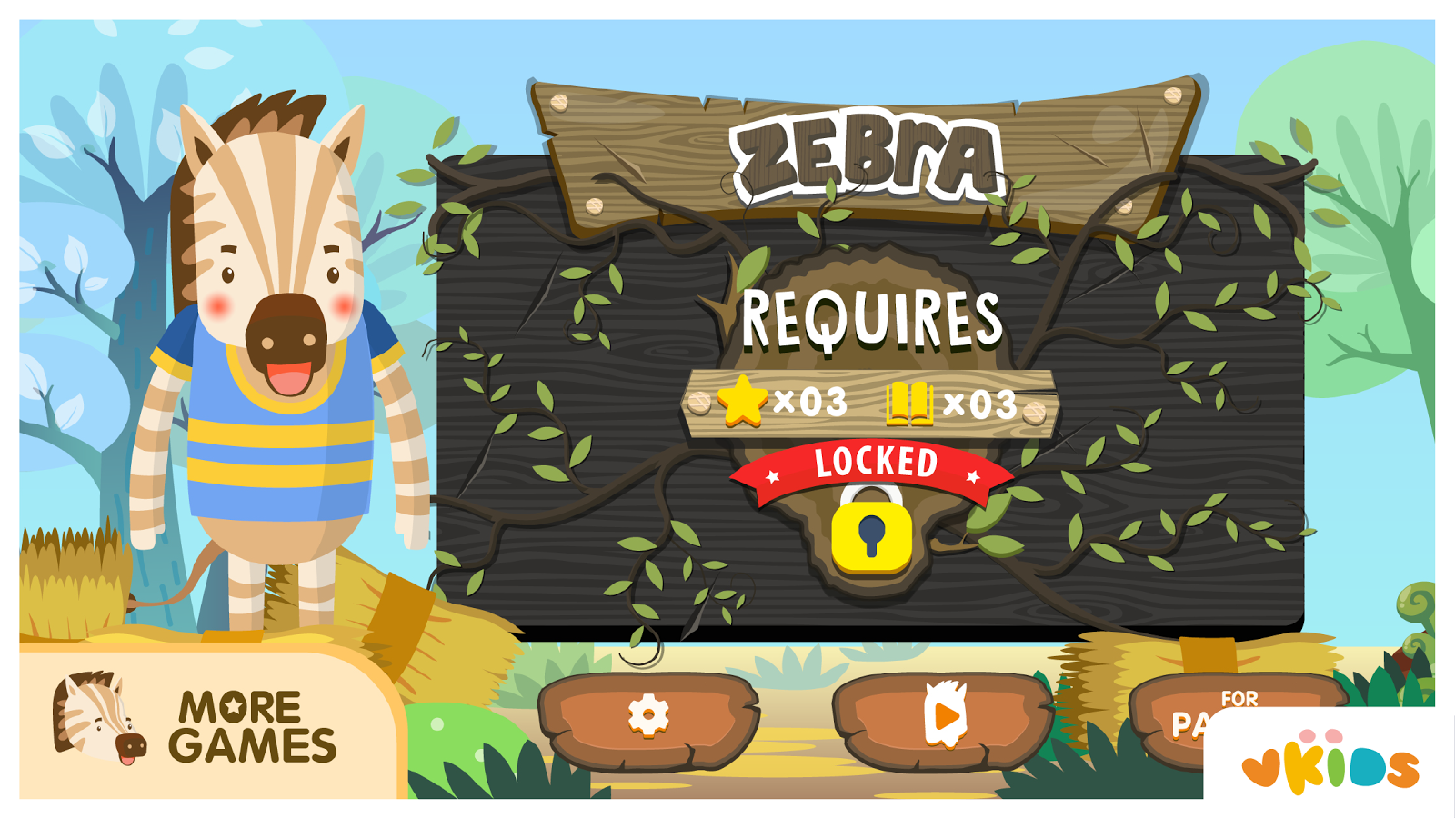 Kids ABC Animal Game - Zebra- screenshot