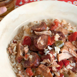 Slow Cooker Chicken and Sausage Jambalaya