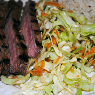 Sweet and Spicy Orange Flank Steak with Cabbage Salad