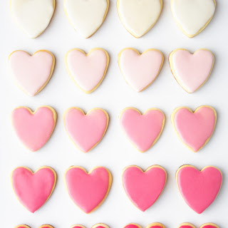 Valentine's Day Heart Shaped Sugar Cookies.