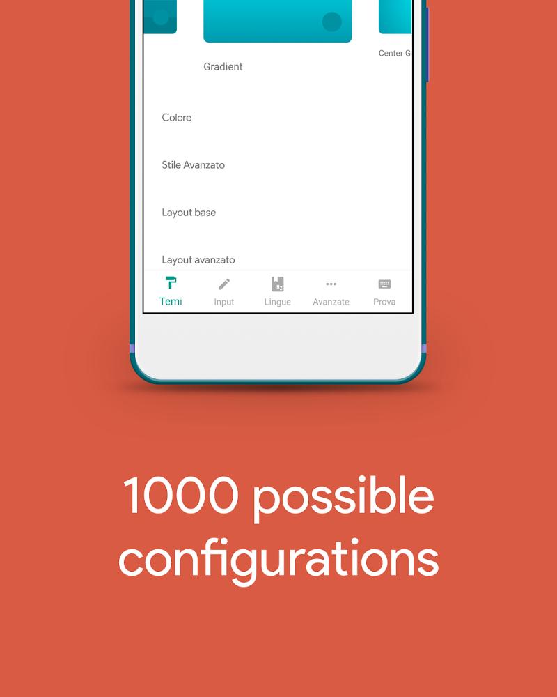 Hydrogen Keyboard Chrooma- Slim, Cyanogen, Lineage Screenshot 1