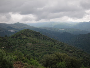 "Photo: In the distance we see several more of Andalucia's ""white towns."" At far left is Alpandeire, today's destination."