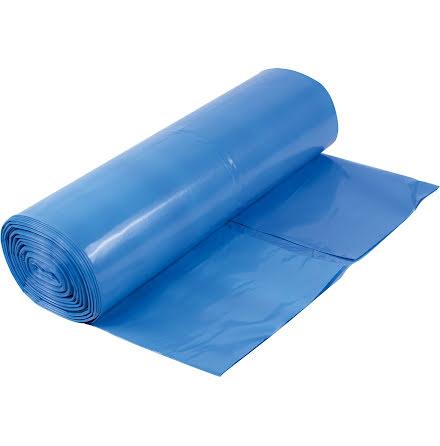 Sopsäck LLD 125L blå/vit 60my