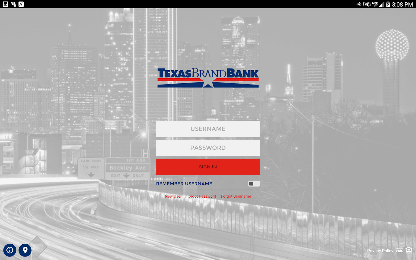 Texas Brand Bank- screenshot