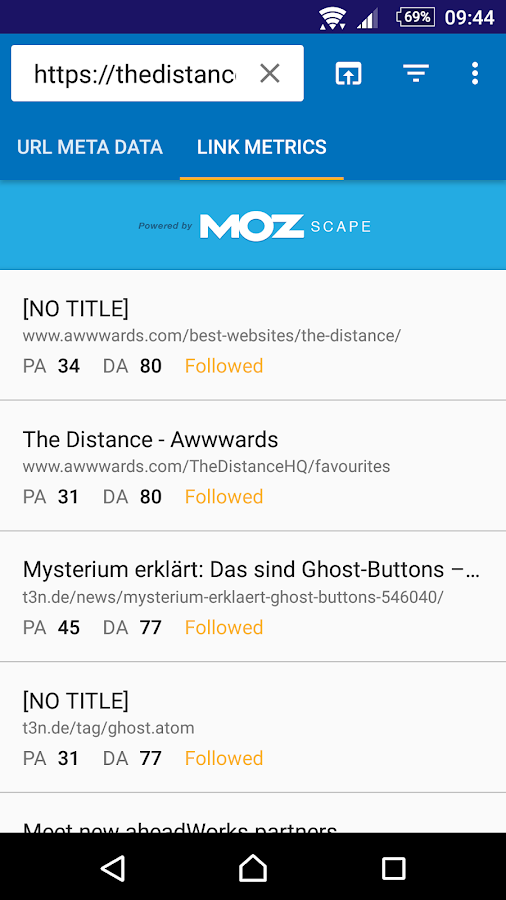 Pocket SEO: Unofficial Moz App- screenshot