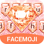 Luxury Rose Gold Diamond Keyboard Theme