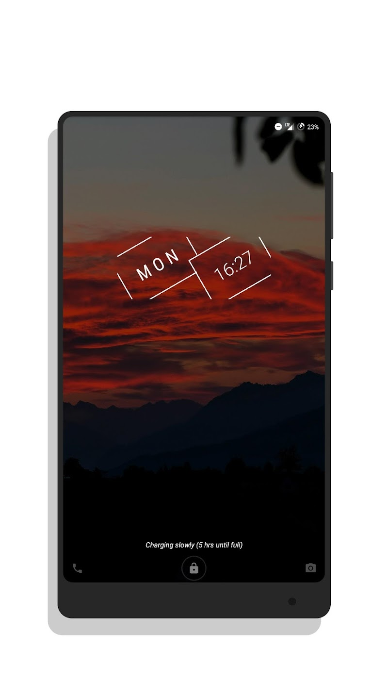 MNML Digital Clock Mods [Substratum] Screenshot 15