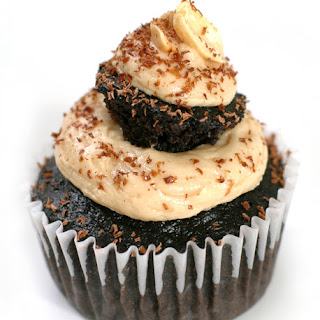 """Midnight Chocolate Peanut Butter """"Cup""""-Cake"""