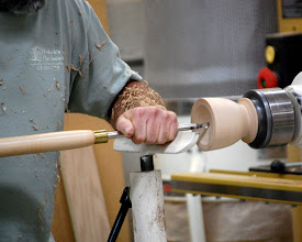 Photo: Then he showed that the Termite tool works very well on end grain.