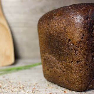 Bread Machine Black German Rye Bread.